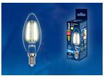 LED-C35-6W/WW/E14/CL PLS02WH Лампа светодиодная. Форма свеча, прозрачная колба. Материал корпуса пластик. Цвет свечения теплый белый. Серия Sky.