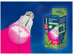 LED-A60-9W/SP/E27/CL ALM01WH Лампа светодиодная для растений. Форма A, прозрачная колба. Материал корпуса пластик.