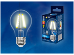 LED-A60-8W/WW/E27/CL PLS02WH Лампа светодиодная. Форма A, прозрачная. Серия Sky. Теплый белый свет.