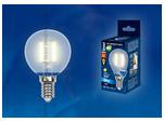 LED-G45-6W/WW/E14/FR PLS02WH Лампа светодиодная. Форма шар, матовая. Серия Sky. Теплый белый свет.