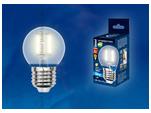 LED-G45-6W/WW/E27/FR PLS02WH Лампа светодиодная. Форма шар, матовая. Серия Sky. Теплый белый свет.