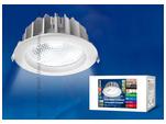 ULT-D03G-30W/NW SILVER Светильник светодиодный встраиваемый потолочный 30Вт 2200Лм. Белый свет.