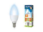 LED-C37-6W/NW/E14/FR/O Светодиодная лампа Свеча, матовая. Белый свет. Серия Optima.