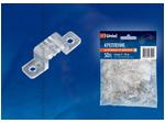 UCC-K10 CLEAR 050 POLYBAG Крепление для светодиодной ленты 220В 5050, 10 мм, цвет прозрачный, 50 штук в пакете