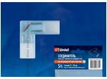 UTC-K-22/A67-NNN CLEAR 005 POLYBAG Соединитель контактный L-образный для светодиодных лент 220В 3528, 2 контакта, цвет прозрачный, 5 штук в пакете