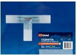 UTC-K-32/A67-NNN CLEAR 005 POLYBAG Соединитель контактный Т-образный для светодиодных лент 220В 3528, 2 контакта, цвет прозрачный, 5 штук в пакете