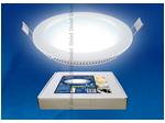 ULP-R150-07/DW WHITE Светильник светодиодный потолочный встраиваемый. Ультратонкий. О150*16mm. Дневной свет белый. В комплекте с адаптером.