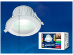ULT-D01E-20W/NW WHITE Светильник светодиодный встраиваемый потолочный 20Вт 1300Лм. Белый свет. О6.