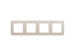 Рамка на 4 поста, слоновая кость, 12-5004-02