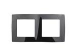 Рамка на 2 поста, чёрный, 12-5002-06
