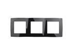 Рамка на 3 поста, чёрный, 12-5003-06