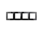 Рамка на 4 поста, чёрный, 12-5004-06