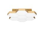 (MX13003032-7А) Люстра потолочная FAVO LED-35W 1680LM Satin Gold 3000K (750071)
