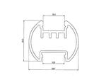 Профиль для светодиодной ленты полукруг алюминиевый LC-LKS-2328-2 Anod