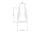 Профиль алюминиевый для стекла LC-LPG-1318-2 Anod
