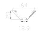 Профиль для светодиодной ленты угловой алюминиевый LC-LPU-2364-2 Anod
