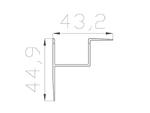 Профиль накладной алюминиевый LC-NKU-4543-2 Anod