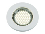 DLS-A104 GU5.3 WHITE Светильник декоративный встраиваемый ТМ Fametto, серия Arno. Без лампы, цоколь GU5.3. Металл, цвет белый. Штампованный.