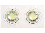 Встраиваемый потолочный светильник 2*5W 6400К Белый (HL6702L)