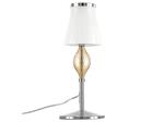 (MT2067-1L) Настольная лампа ESCICA 1х40W E14 БЕЛЫЙ/КОНЬЯК/ХРОМ (806910)