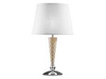 (PD1257-3) Настольная лампа GRAZIA 1х60W E27 КОЖА/БЕЛЫЙ/ХРОМ (870926)