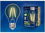LED-A67-4W/GOLDEN/E27 GLV21GO Лампа светодиодная Vintage. Форма «A», золотистая колба.