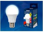 LED-A60 8W/NW/E27/FR PLP01WH Лампа светодиодная. Форма «А», матовая. Серия Яркая. Белый свет (4000K).