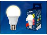 LED-A60 12W/WW/E27/FR PLP01WH Лампа светодиодная. Форма «А», матовая. Серия Яркая. Теплый белый свет (3000K).