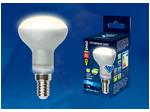 LED-R50-6W/WW/E14/FR PLS02WH Лампа светодиодная. Форма «Рефлектор», матовая. Серия Sky. Теплый белый свет.