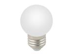 LED-G45-1W/3000K/E27/FR/С Лампа белт-лайт светодиодная. Форма шар, матовая. Теплый белый свет (3000K)