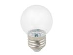 LED-G45-1W/3000K/E27/CL/С Лампа белт-лайт светодиодная. Форма шар, прозрачная. Теплый белый свет (3000K)