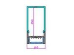 Экран ARH-WIDE-(B)-H20-2000 RCT Frost-PM (ARL, Пластик)