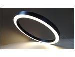 Кольцевой светильник RING - 1025 (45х55), цвет корпуса черный, 3600Лм, 3000К, 43Вт, подвесной, длина подвеса 1п.м.
