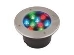ULU-B12A-9W-RGB IP67 GREY Светильник светодиодный уличный. Архитектурный встраиваемый. RGB свет. Корпус серый.