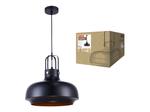 DLC-V103 E27 BLACK Светильник декоративный подвесной ТМ Fametto, серия Vintage. Без лампы. Материал металл, цвет черный. d-350мм, h-1000мм.