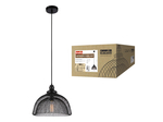DLC-V202 E27 BLACK Светильник декоративный подвесной ТМ Fametto, серия Vintage. Без лампы. Материал металл, цвет черный. d-370мм, h-1000мм.