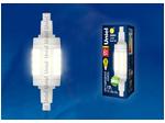LED-J78-6W/WW/R7s/CL PLZ06WH Лампа светодиодная. Прозрачная. Теплый белый свет.