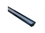Профиль алюминиевый для светодиодной ленты, анод., угловой, накладной, черный, 28,5х10,4мм, 2м, шир. ленты до 10мм, индивидуальная упаковка (рассеиватель белый матовый,...