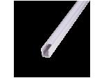 Профиль накладной 8x9 мм 2м + рассеиватель и заглушки неанодированный