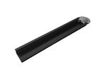 Профиль алюминиевый для светодиодной ленты, анод., встраиваемый, черный, 22х6мм, 2м, шир. ленты до 10мм, без упаковки (без рассеивателя, без заглушек).
