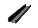 Профиль алюминиевый для светодиодной ленты, анод., П-образный , накладной, черный, 15,2х6мм, 2м, шир. ленты до 10мм, без упаковки (без рассеивателя, без заглуше...