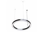 Кольцевой светильник RING - 1025 (45х55), цвет корпуса серебро, 3600Лм, 4000К, 43Вт, подвесной, длина подвеса 1п.м.