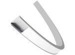 Профиль алюминиевый для светодиодной ленты, анод., П-образный, гибкий, накладной, серебро, 15х6,4мм, 2м, ширина ленты до 10мм, индивидуальная упаковка (рассеиватель...