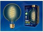 LED-G95-4W/GOLDEN/E27/CW GLV21GO Лампа светодиодная Vintage. Форма «шар», золотистая колба. Cпиральная нить.