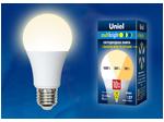 LED-A60-10W/WW/E27/FR/MB PLM11WH Лампа светодиодная. Форма «А», матовая. Серия Multibright. Теплый белый свет (3000K). 100-50-10.