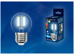 LED-G45-6W/NW/E27/CL Лампа светодиодная. Форма шар, прозрачная. Серия Sky. Белый свет