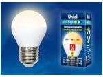 LED-G45-6W/WW/E27/FR/MB PLM11WH Лампа светодиодная. Форма «шар», матовая. Серия Multibright. Теплый белый свет (3000K). 100-50-10.