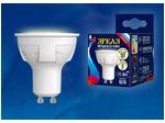 LED-JCDR 6W/WW/GU10/FR PLP01WH Лампа светодиодная. Форма «JCDR», матовая. Серия ЯРКАЯ. Теплый белый свет (3000K).