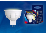 LED-JCDR 6W/WW/GU5.3/FR PLP01WH Лампа светодиодная. Форма «JCDR», матовая. Серия ЯРКАЯ. Теплый белый свет (3000K).