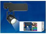 ULB-M08H-24W/NW BLACK Светильник светодиодный трековый. 24 Вт. 2000 Лм. Белый свет (4200К). Корпус черный. 6*16,8 см.